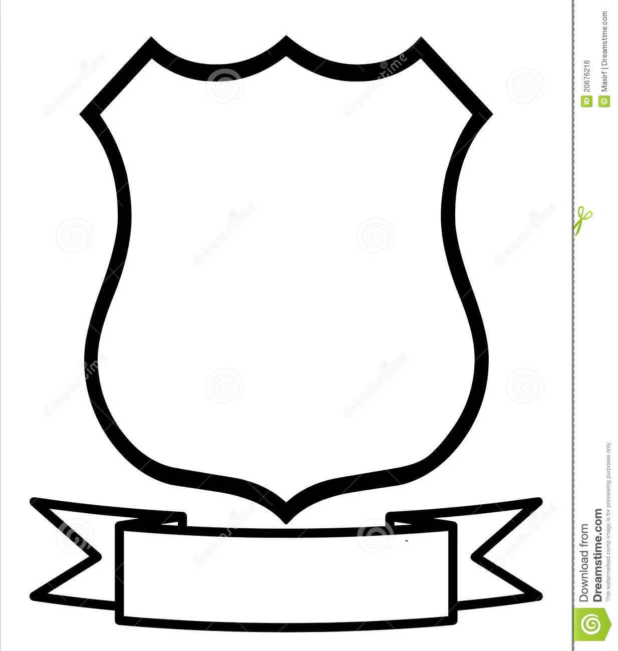Blank Family C | Shield Vector, Shield Template, Clip Art Inside Blank Shield Template Printable