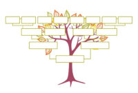 Blank Family Tree Template   Free Instant Download with Blank Tree Diagram Template