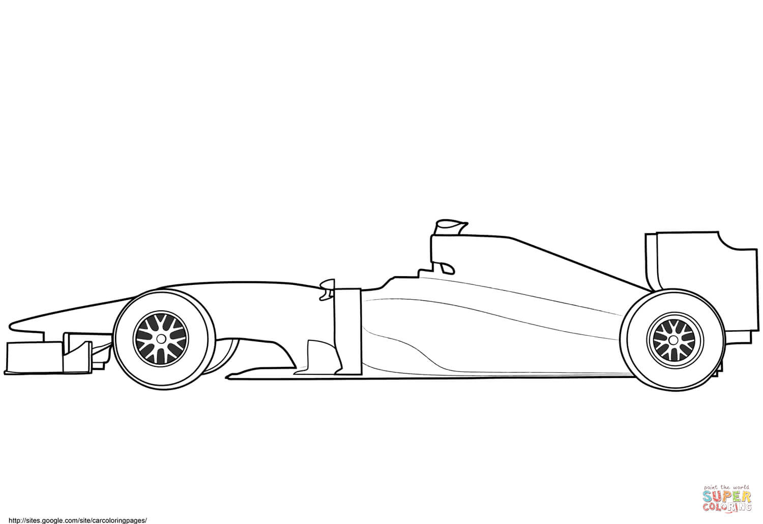 Blank Formula 1 Race Car Coloring Page | Free Printable Within Blank Race Car Templates
