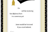Blank Graduation Invitation Templates – Zimer.bwong.co with Free Graduation Invitation Templates For Word