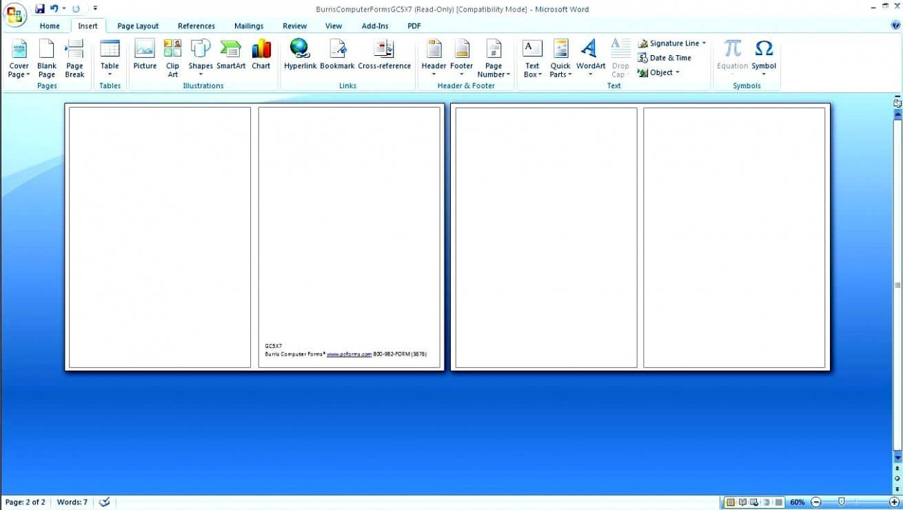 Blank Greeting Card Template Microsoft Word – Ironi Pertaining To Blank Quarter Fold Card Template