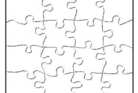 Blank Jigsaw Puzzle Pieces Template | Puzzle Piece Template in Jigsaw Puzzle Template For Word