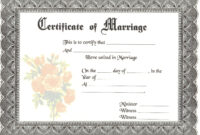 Blank Marriage Certificates | Download Blank Marriage pertaining to Blank Marriage Certificate Template
