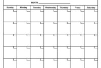 Blank Month Calendar Template | Templates Free Printable throughout Month At A Glance Blank Calendar Template