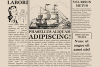 Blank Old Newspaper Template with regard to Old Blank Newspaper Template