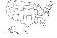 Blank Outline Map United States America with United States Map Template Blank