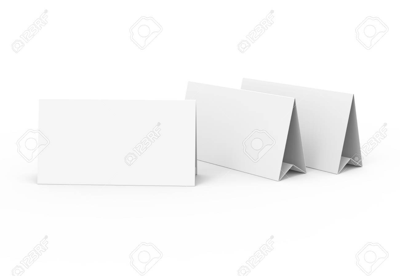 Blank Paper Tent Template, White Tent Cards Set With Empty Space.. Regarding Blank Tent Card Template