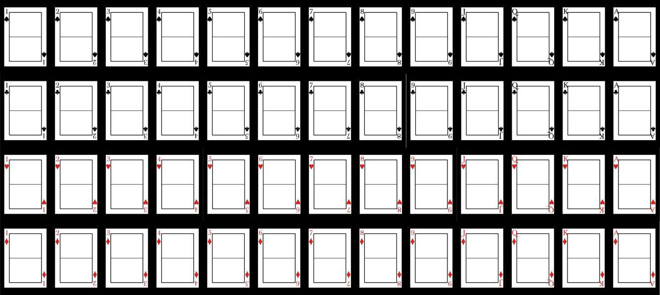 Blank Playing Card Template | Blank Playing Cards, Card Throughout Blank Playing Card Template
