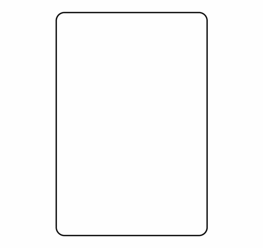 Blank Playing Card Template Parallel - Clip Art Library For Blank Playing Card Template