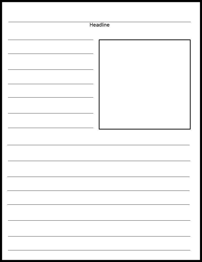 Blank Print News Article Template | Newspaper Template Within News Report Template