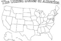 Blank Printable Map Of The United States And Canada within Blank Template Of The United States