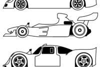 Blank Race Car Coloring Pages inside Blank Race Car Templates