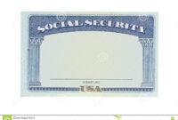 Blank Social Security Card Stock Photo. Image Of Money inside Social Security Card Template Free
