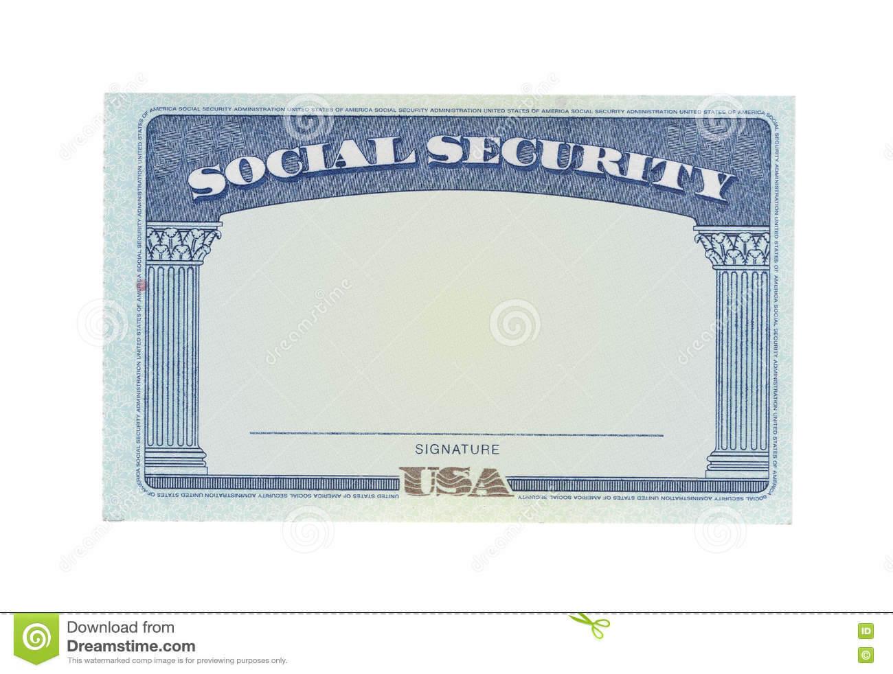 Blank Social Security Card Stock Photos - Download 122 In Blank Social Security Card Template Download