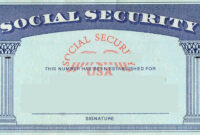 Blank Social Security Card Template | Social Security Card for Blank Social Security Card Template Download