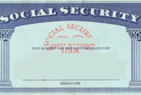 Blank Social Security Card Template | Social Security Card regarding Social Security Card Template Download