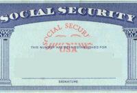 Blank Social Security Card Template | Social Security Card with regard to Georgia Id Card Template