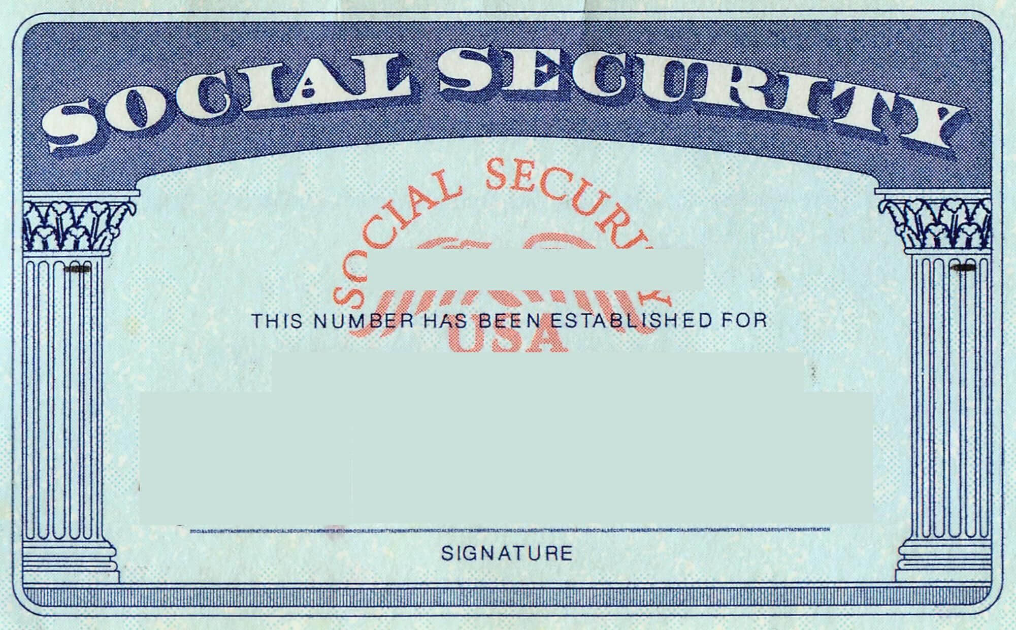 Blank Social Security Card Template | Social Security Card Within Editable Social Security Card Template