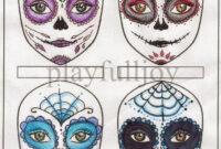 Blank Sugar Skull Template – Google Search | Skull Template intended for Blank Sugar Skull Template