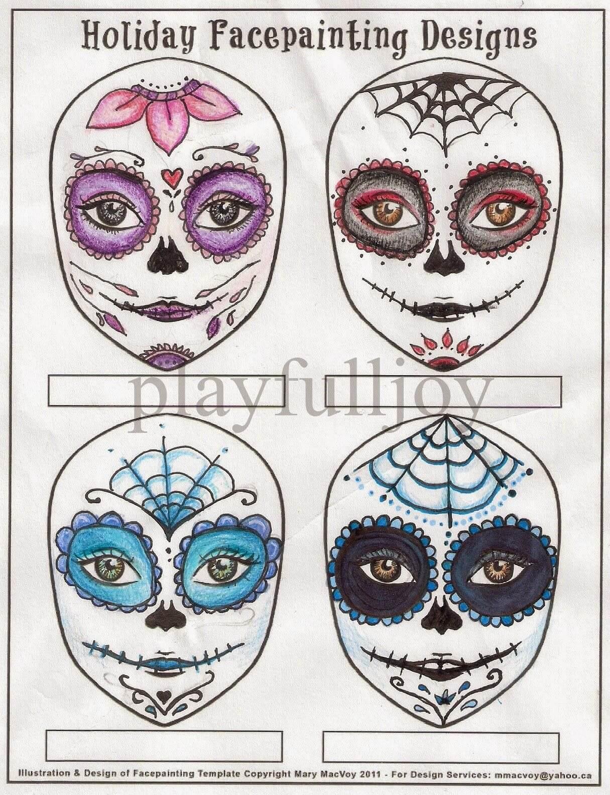 Blank Sugar Skull Template - Google Search | Skull Template Intended For Blank Sugar Skull Template