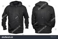 Blank Sweatshirt Mock Template Front Back Stock Photo (Edit for Blank Black Hoodie Template