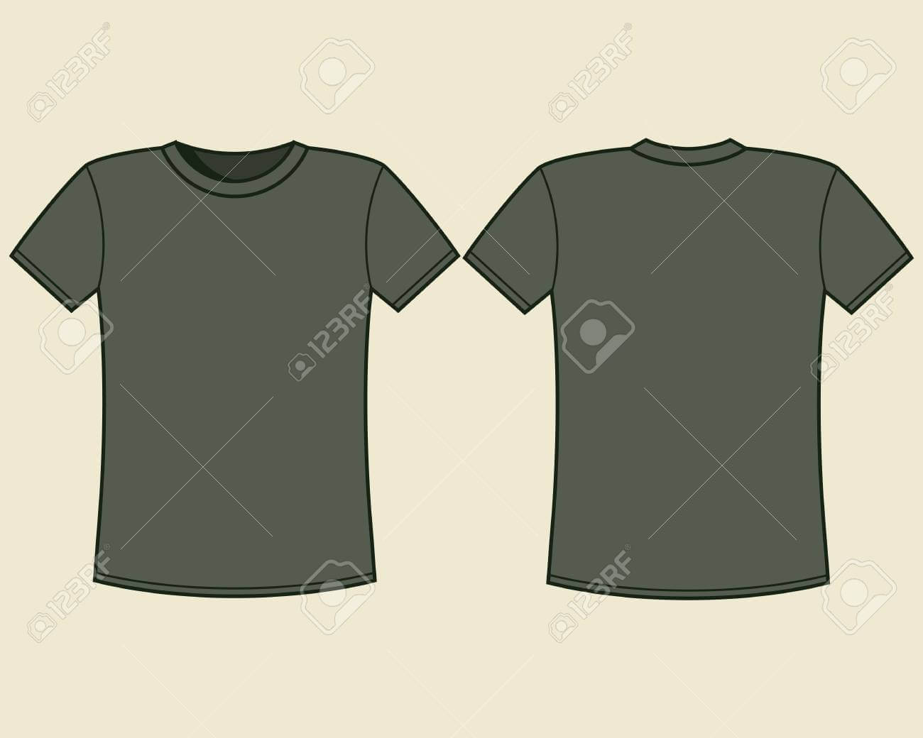 Blank T Shirt Template Inside Blank Tee Shirt Template