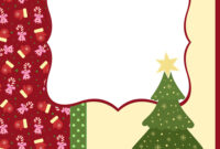 Blank Template For Christmas Greetings Card with regard to Blank Christmas Card Templates Free