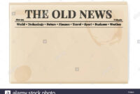 Blank Template Of A Retro Newspaper. Folded Cover Page Of A intended for Old Blank Newspaper Template