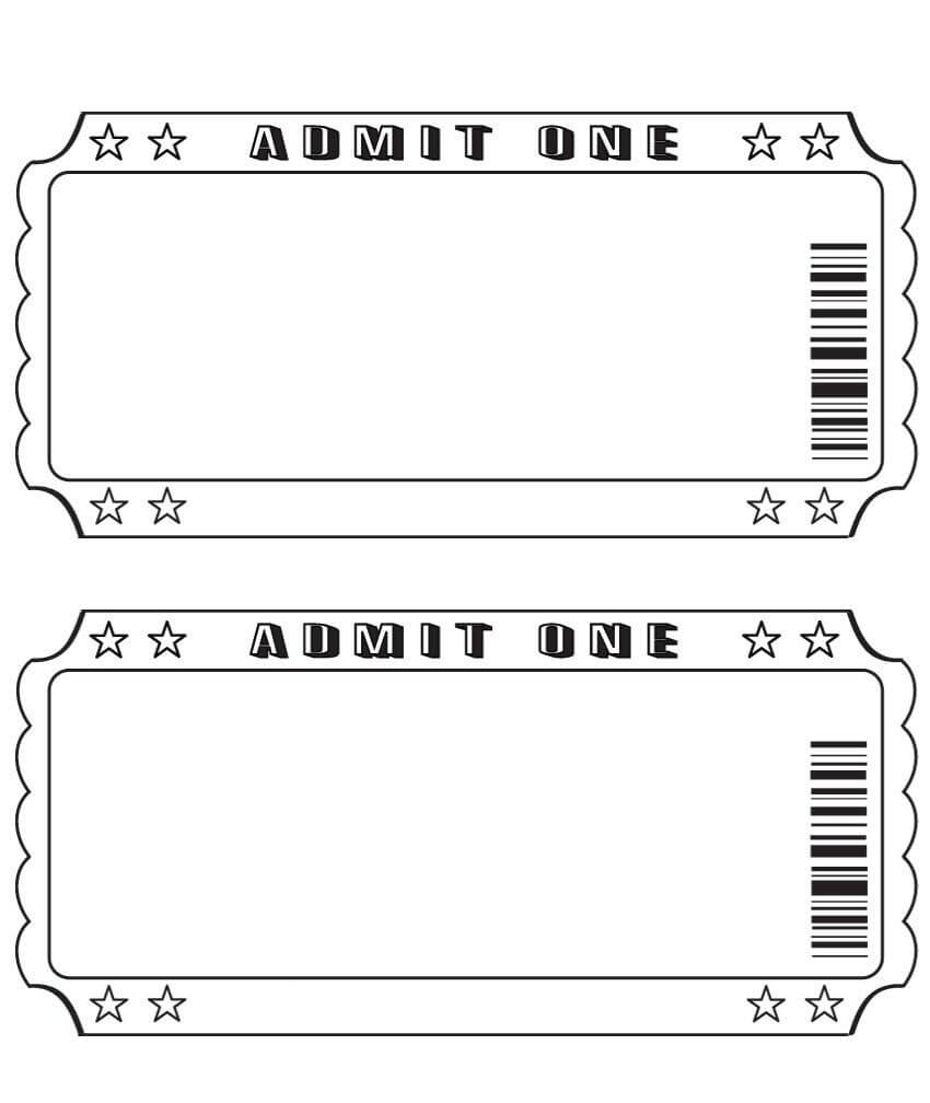 Blank Ticket … | Ticket Template, Printable Tickets, Ticket Inside Blank Admission Ticket Template