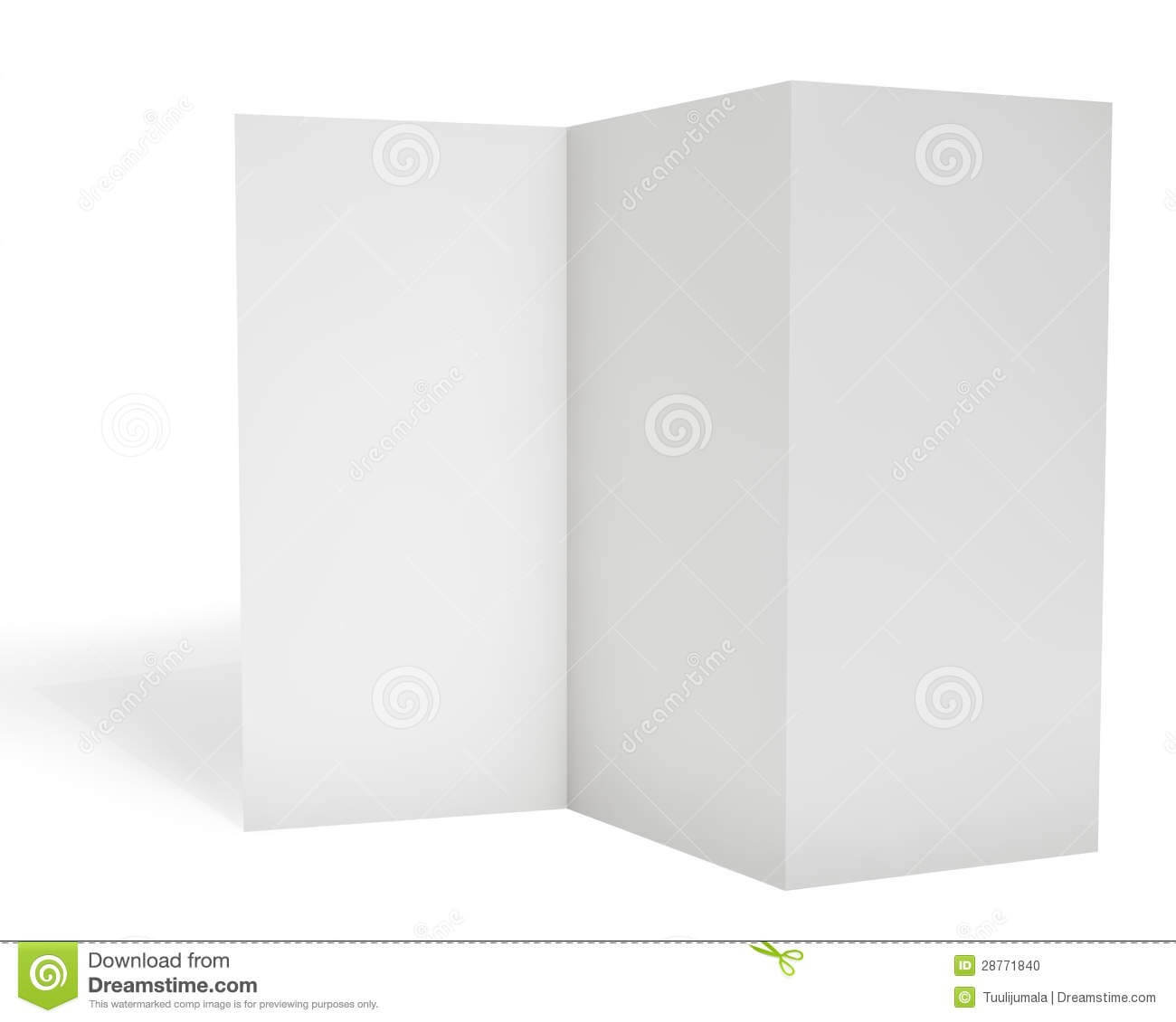 Blank Triple Leaflet Template Stock Illustration Regarding Travel Brochure Template Ks2