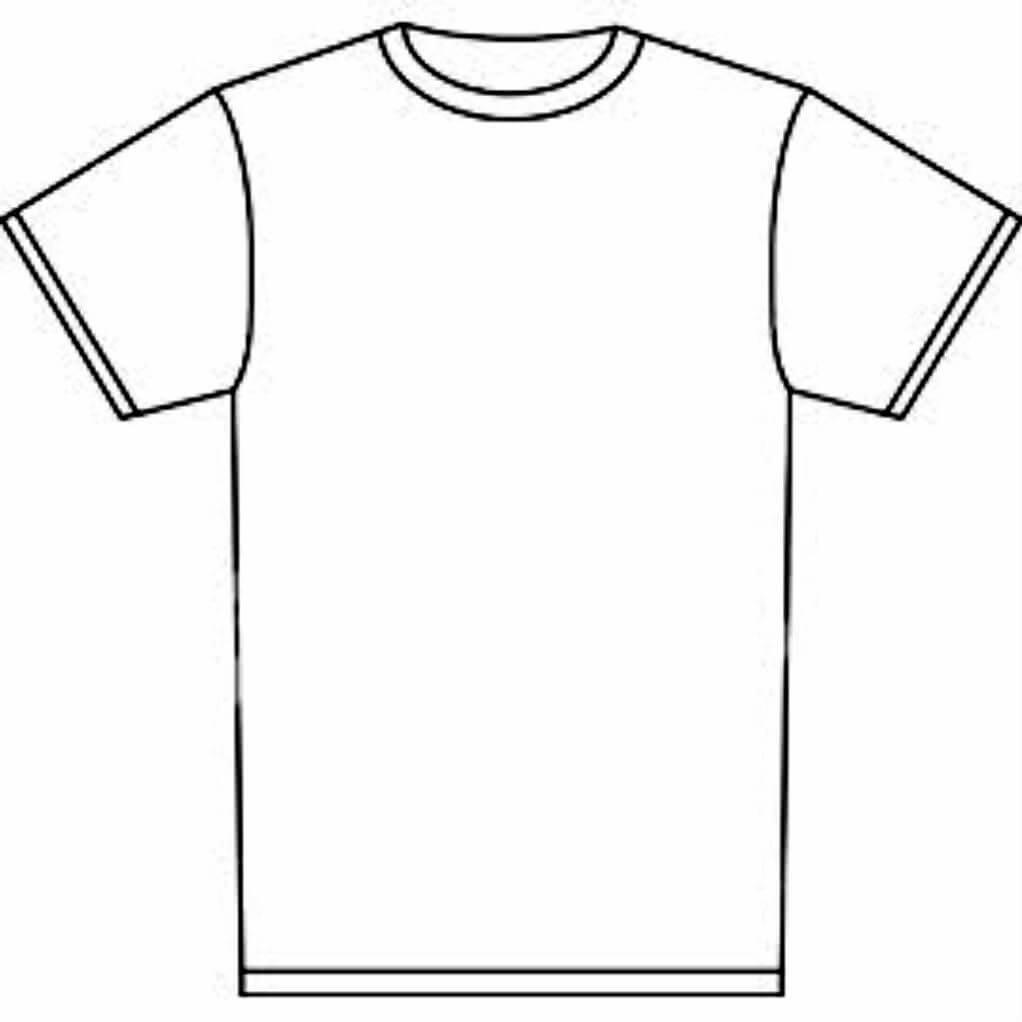 Blank Tshirt Template Tryprodermagenix Org Prepossessing T With Regard To Printable Blank Tshirt Template