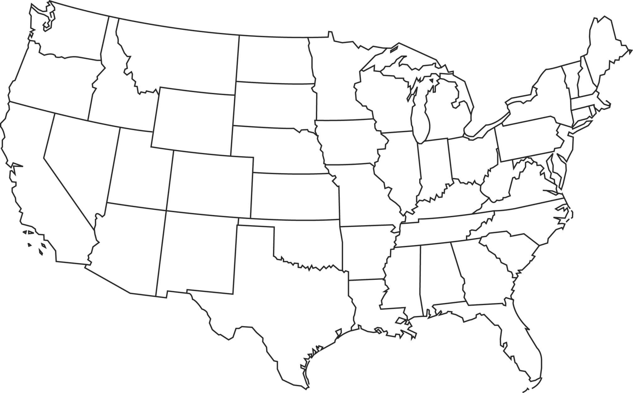 Blank Us Map United States Maps Throughout Us Printable With In United States Map Template Blank