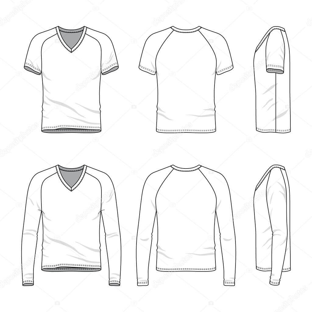 Blank V Neck T Shirt And Tee. — Stock Vector © Aunaauna2012 Pertaining To Blank V Neck T Shirt Template