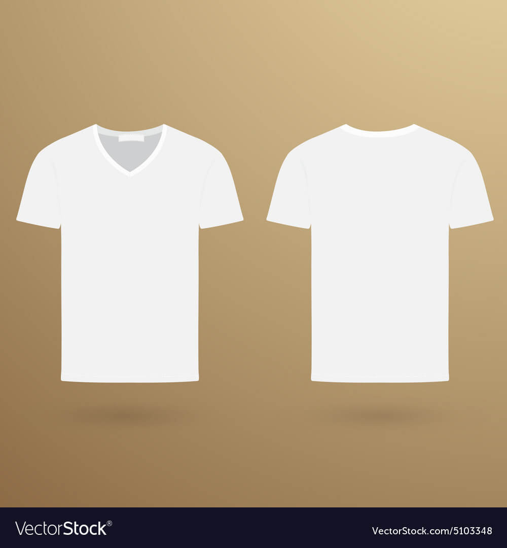 Blank V T Shirt Template Front And Back Inside Blank V Neck T Shirt Template