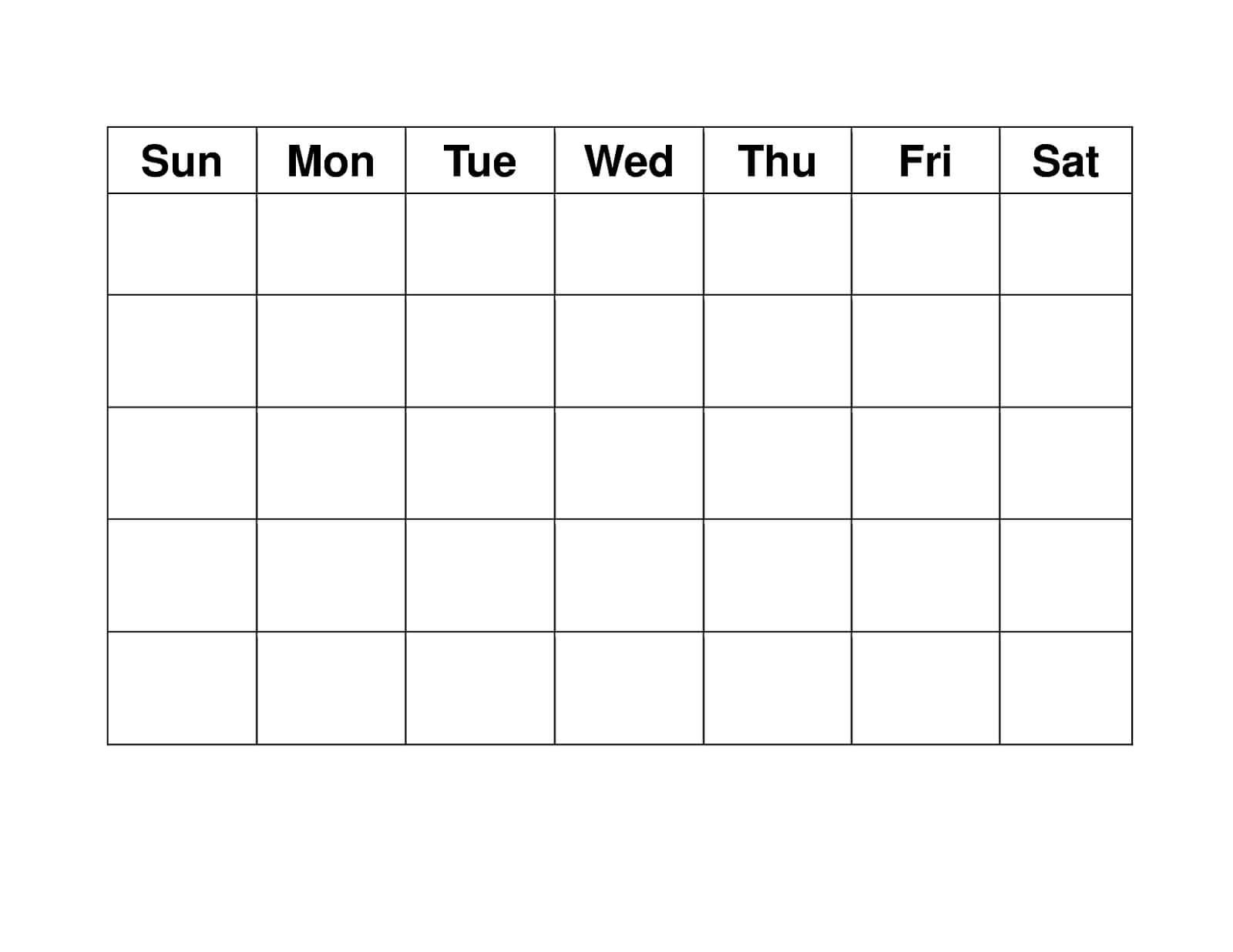 Blank Weekly Calendars Printable | Free Printable Calendar Regarding Blank Activity Calendar Template