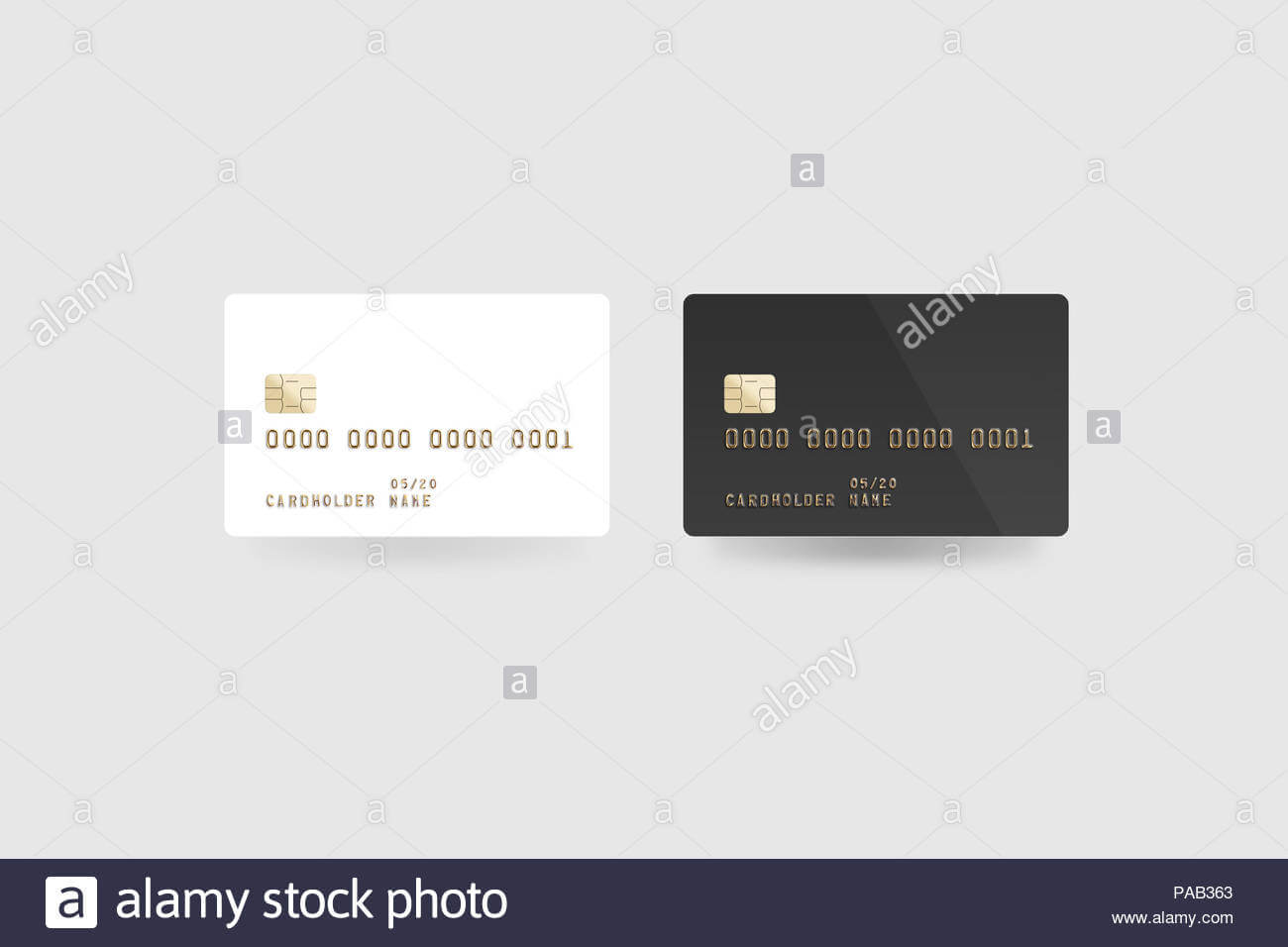 Blank White Credit Card Mockup Isolated, Clipping Path For Credit Card Templates For Sale