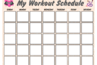 Blank Workout Schedule For Women | Templates At with Blank Workout Schedule Template