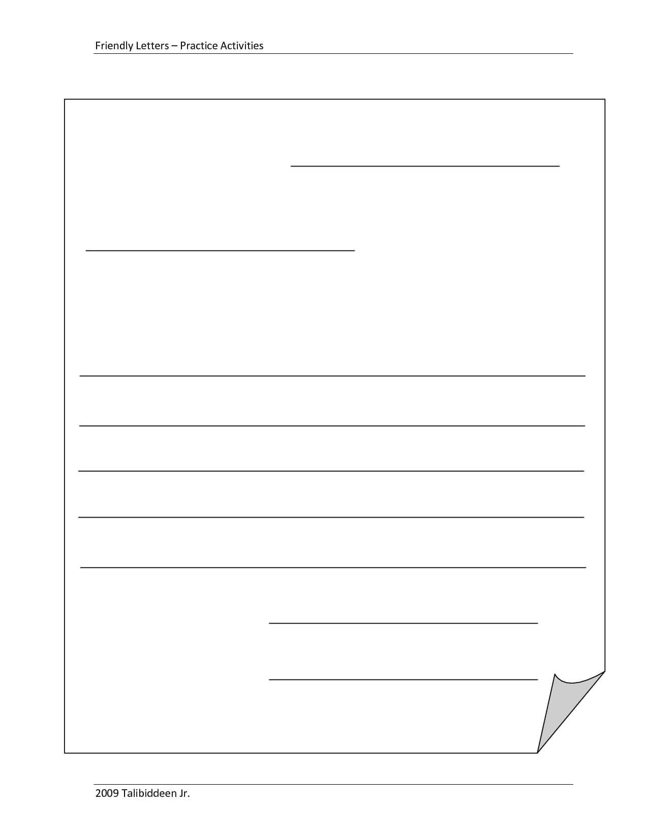 Blank+Letter+Format+Template | Letter Writing Template Pertaining To Blank Letter Writing Template For Kids