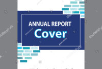 Blue Annual Report Title Page Sample Stock Vector (Royalty for Cover Page For Annual Report Template