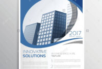 Blue Business Flyer Leaflet Annual Report Cover Page Design inside Cover Page For Annual Report Template