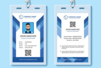 Blue Employee Id Card Design Template for Work Id Card Template