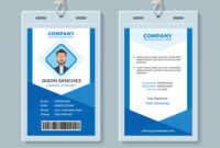 Blue Employee Identity Card Template intended for Work Id Card Template