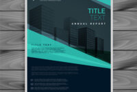 Blue Professional Brochure Design Template regarding Professional Brochure Design Templates