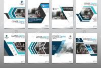 Blue Set Technology Annual Report Brochure Flyer Design inside Technical Brochure Template