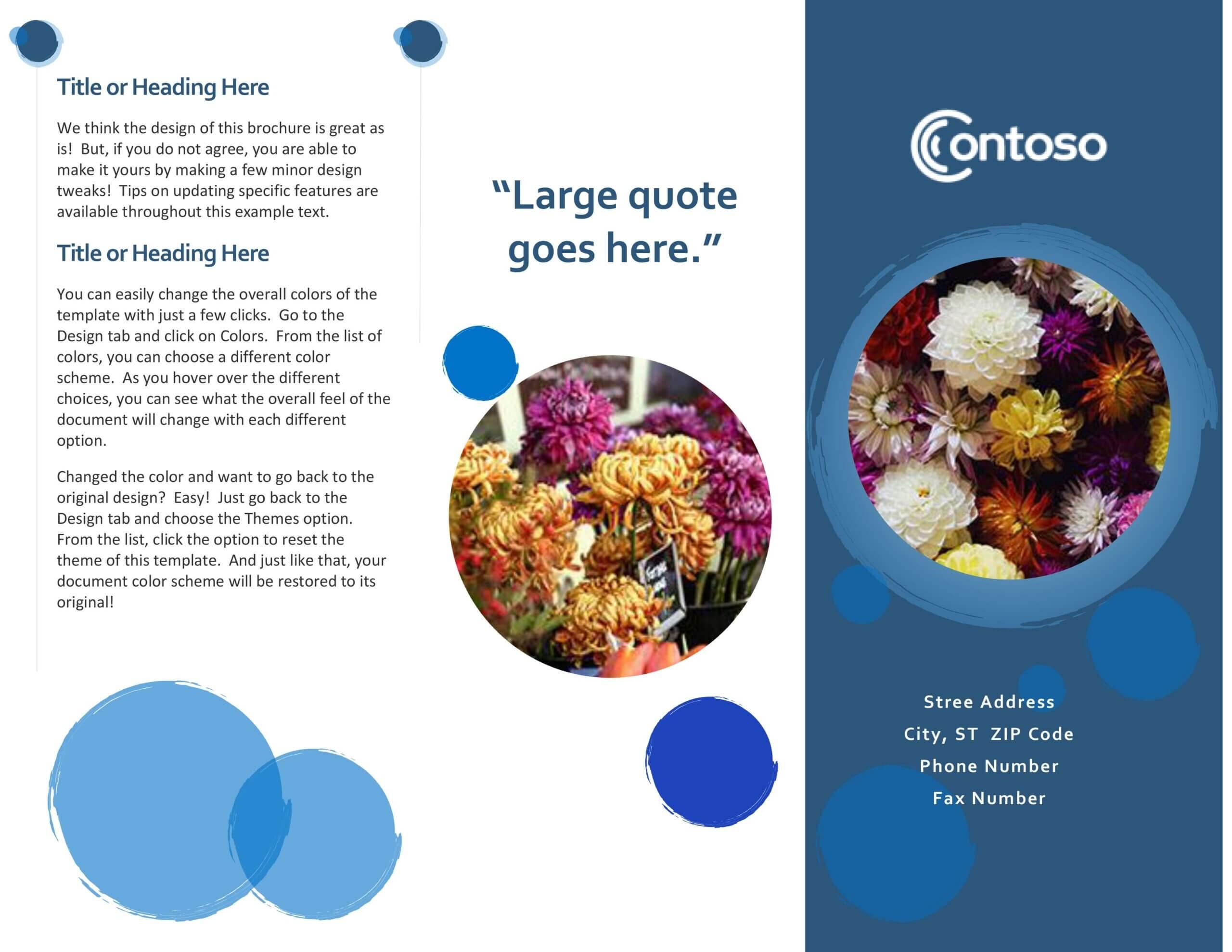 Blue Spheres Brochure Regarding Office Word Brochure Template