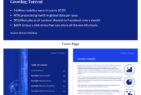 Blue Tech Mckinsey Consulting Report Template for Mckinsey Consulting Report Template