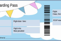 Boarding Pass Birthday Invitation | Boarding Pass Template intended for Plane Ticket Template Word
