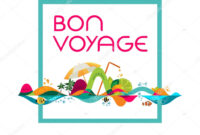 Bon Voyage Banner | Bon Voyage – Banner, Vector Template with Bon Voyage Card Template