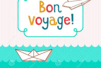 Bon Voyage Card Template ] – Bon Voyage Postcards Zazzle Com inside Bon Voyage Card Template