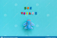 Bon Voyage Colorful Text And Children`s Funny Toy Plane On in Bon Voyage Card Template